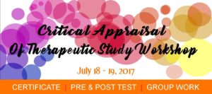 Critical Appraisal of Therapeutic Study Workshop